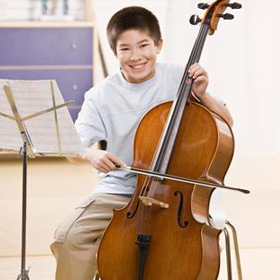 Kid Playing the Cello