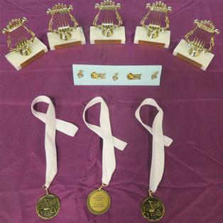 Various Awards In the Recital