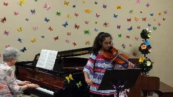 Girl Performing In a Recital